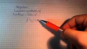 Tangentensteigung Berechnen : tangentensteigung berechnen hausaufgaben mathematik youtube ~ Themetempest.com Abrechnung