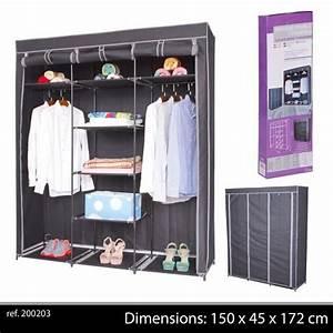 Rangement Vetement Chambre : grande penderie etagere armoire de rangement de vetement ~ Teatrodelosmanantiales.com Idées de Décoration