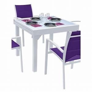 Table De Jardin 4 Personnes : table modulo blanche 4 8 personnes achat vente table de jardin table modulo blanche cdiscount ~ Teatrodelosmanantiales.com Idées de Décoration