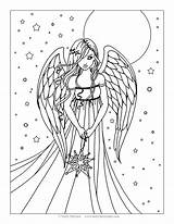 Coloring Goodall Jane Pages Printable Angels Wings Getcolorings Colorings sketch template