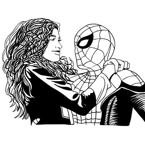 desenho de homem aranha longe de casa  colorir