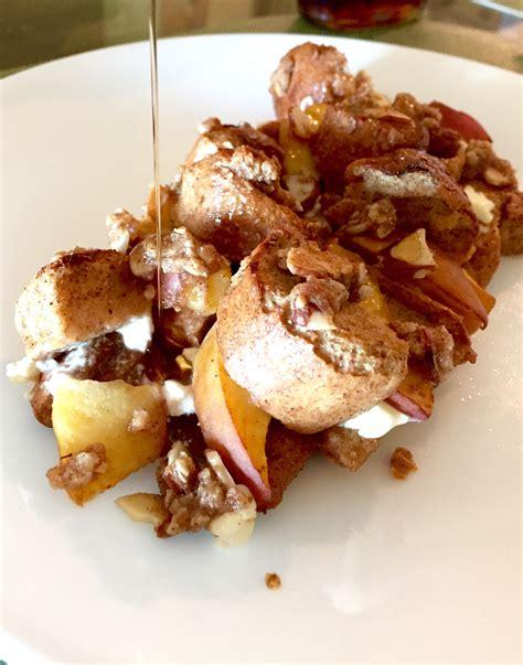 Overnight Peaches Cream French Toast Bake Mak Her