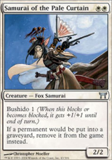 Competitive Samurai Deck Mtg by Samurai Of The Pale Curtain Chions Of Kamigawa Magic