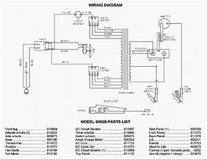 Associated Equipment 6002b Parts List
