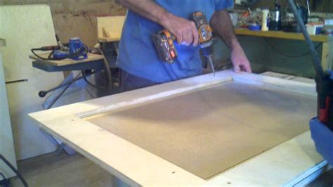 how to make cabinet doors out of mdf mdf raised panel jig youtube