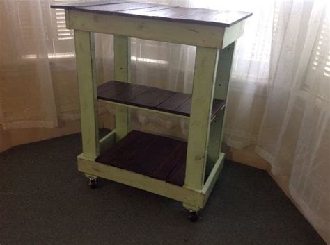 Rustic Pallet Kitchen Cart Microwave Cart Rustic by