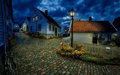 Norway Wallpapers Town Norwegian Street Village Desktop