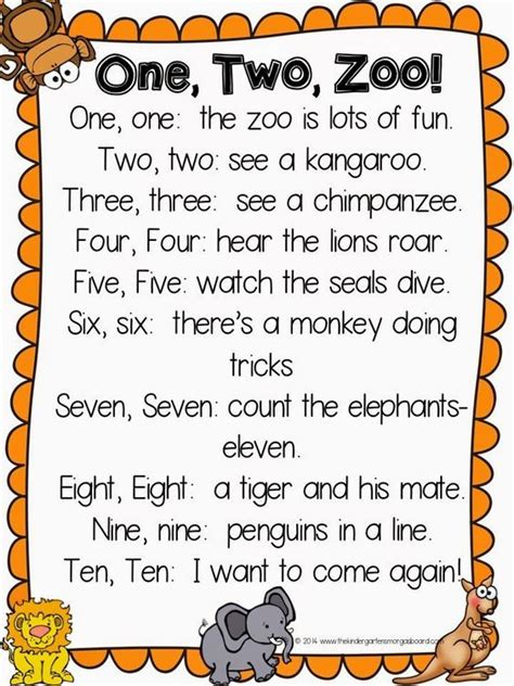 one two zoo poem great poem for zoo week or zoo themes 933   6a0d48731ef91e2cd3983a74bc77f2e6 preschool poems kindergarten poems