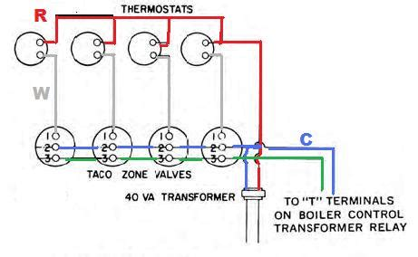 wiring in a 3 zone system with no c wire doityourself community forums