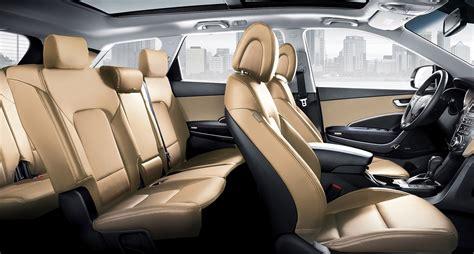 The hyundai santa fe was redesigned for the 2013 model year. Interior photo of spacious Hyundai Santa Fe XL 2018 SUV ...