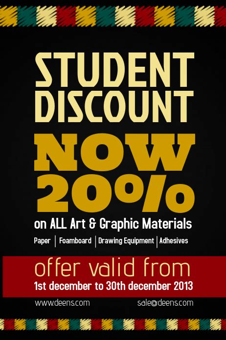 copy  retail discount flyer template postermywall