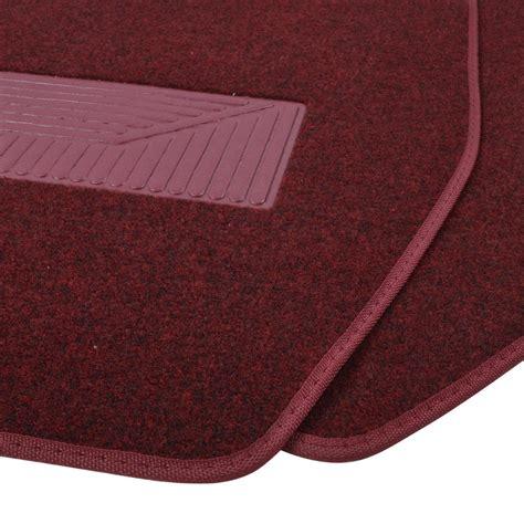 carpet floor mats burgundy carpet car floor mats for truck suv 3pc