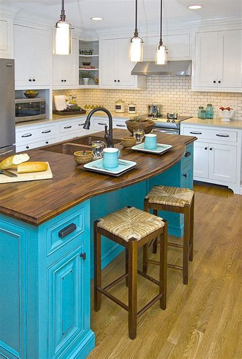 colorful kitchen islands photos pop color in your home neutral kitchen islands and kitchens