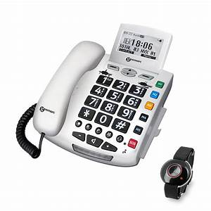 Big Button Easy To Use Phones Geemarc Emergency Phone