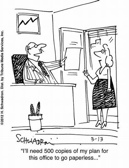 Office Paperless Social Comic Humor Csr Cartoon