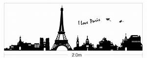I love Paris La Tour Eiffel WALL STICKERS REMOVABLE HOME