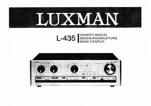 Owner U0026 39 S Manual Instructions For Luxman L