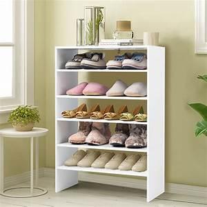 3pcs, Stackable, Shoe, Rack, 24-inch, Horizontal, Organizer, 2-tier, Storage, Shelf, White