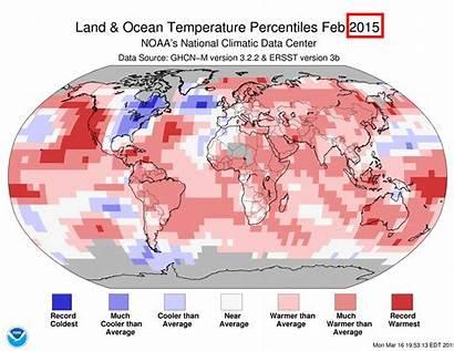 February Temperature Global Sea Climate Land Noaa