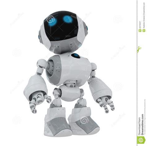 cartoon robot royalty  stock photography image