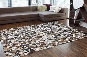 Teppich 240 X 240 : leder teppich circle country braun l 240 x b 170 cm 69822 online kaufen bei woonio ~ Bigdaddyawards.com Haus und Dekorationen