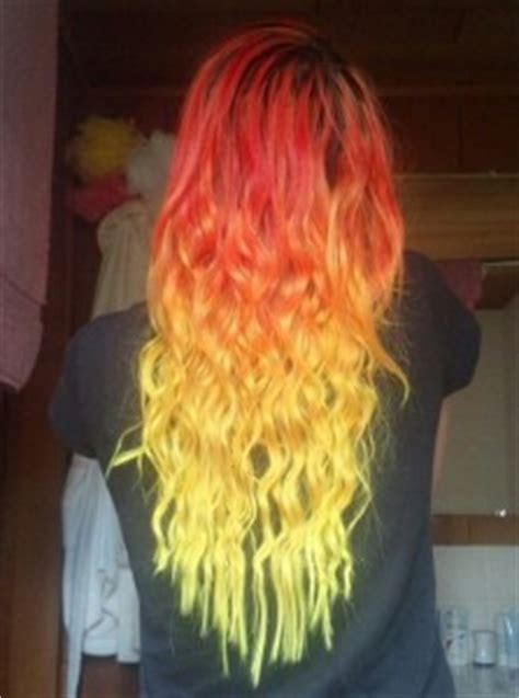 red  yellow ombre hair colors ideas