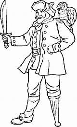 Leg Peg Coloring Pirate Legged Template sketch template