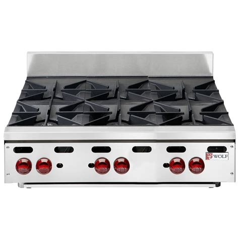 propane countertop stoves wolf ahp636 lp achiever liquid propane 36 quot 6 burner
