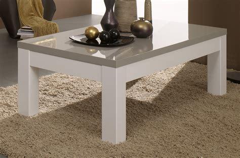 table basse carr 233 e design laqu 233 e blanche et grise tables basses colonnes soldes