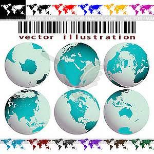 Globen Und Karten : erde globen und farbige welt karten vektorgrafik design ~ Sanjose-hotels-ca.com Haus und Dekorationen