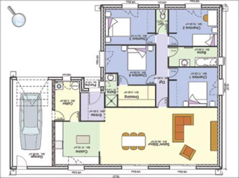 plan maison 騁age 4 chambres plan de maison norme handicape
