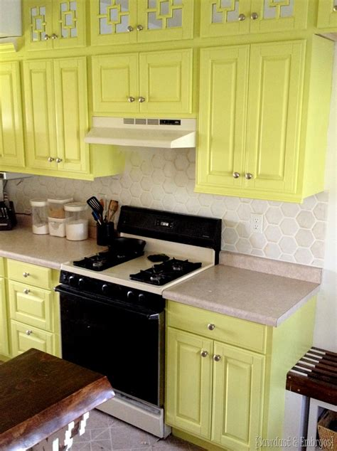 kitchen tile stencils how to paint a faux tile backsplash reality daydream 3289