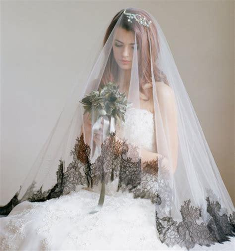 Bridal Veil Black Lace Drop Veil The Dauphine Chantilly Lace