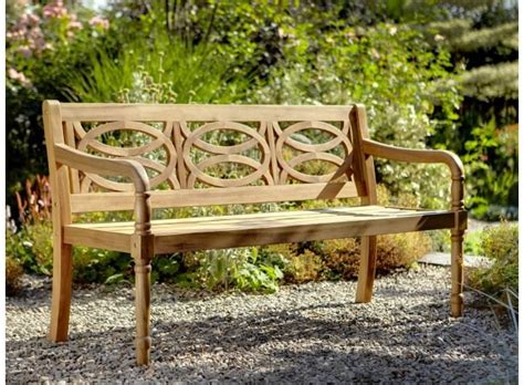 compare prices on these beautiful three seat wooden garden