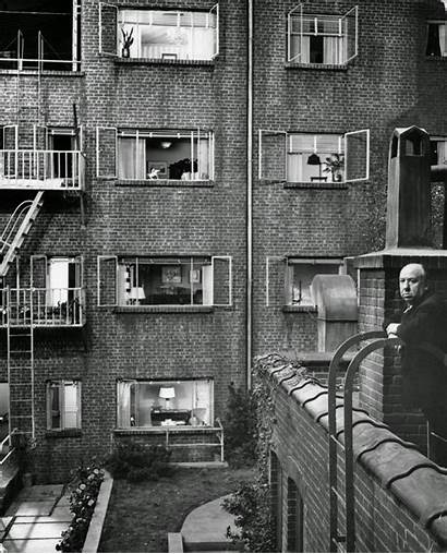 Window Rear Scenes Behind Hitchcock 1954 Alfred