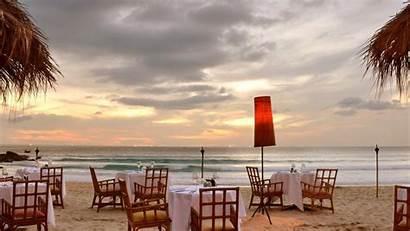 Restaurant Beach Romantic Night Wallpapers Coast