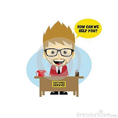 bureau de service personnage de dessin animé de bureau de service client