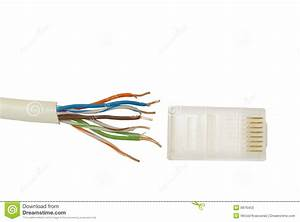 Connector And Cable Internet Stock Photos