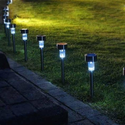 green solar lights best quality solar powered rechargeable stainless steel