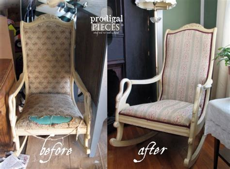 upholstered rocking chair redo prodigal pieces