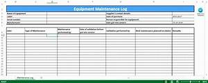 6 preventive maintenance template excel exceltemplates With machine maintenance log template