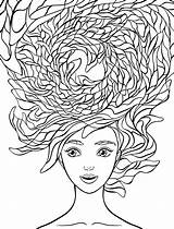 Coloring Pages Hair Crazy Adults Adult Printable Wacky Nerd Sheets Colouring Drawing Nerdy Manga Nerdymamma Colored Animal Faces Getcolorings Wednesday sketch template