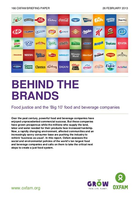 Oxfam Behind The Brands