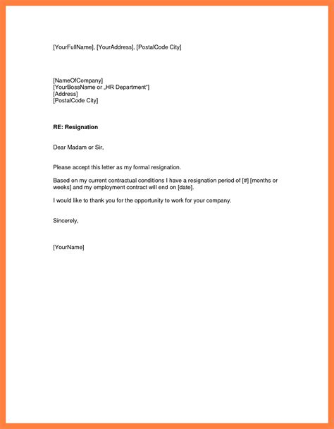 resignation letter sle with one month notice period template of a notice letter 28 images 10 two weeks 24298