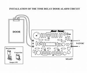 door alarm time delay 9 12 vdc electronic circuit kit With is provided to this circuit the clock starts from 00 00 the time is