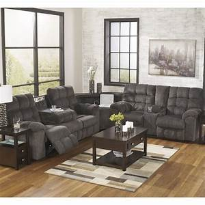 Ashley Furniture Acieona 3 Piece Fabric Reclining ...