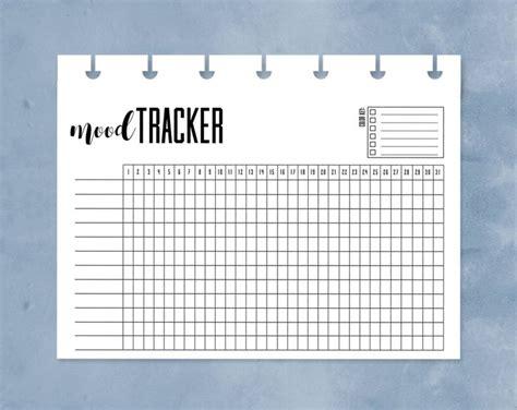 mood tracker happy planner mini mood chart printable