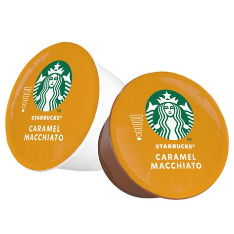 Coffee pods compatible with nescafe dolce gusto coffee machines. Buy Starbucks Caramel Macchiato by Nescafe Dolce Gusto Coffee Pods Box of 6+6 127.8g Online ...