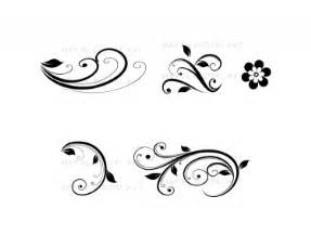 monogram cupcake toppers flourish clip vintage flower clipart designs for diy