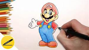 How to Draw Super Mario Step by Step (Nintendo Games ...
